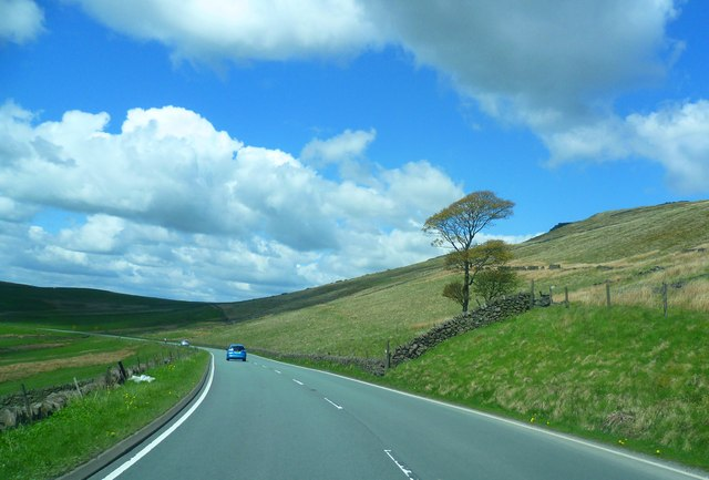 The A537 below Shining Tor