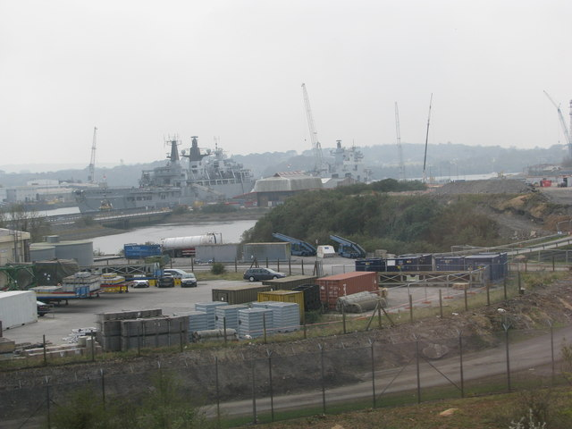 Devonport Dockyard from the railway