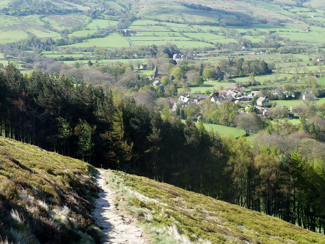 Footpath on the slopes of The Nab