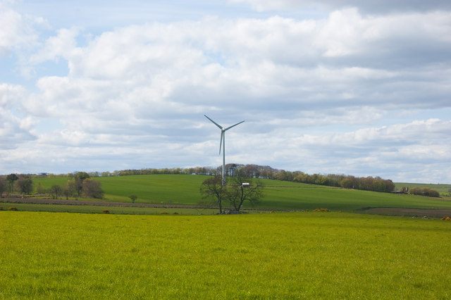 Wind turbine in the countryside