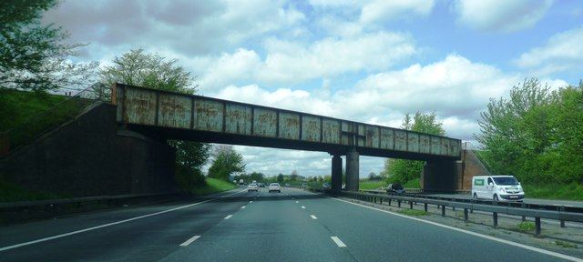 Railway crosses the M6