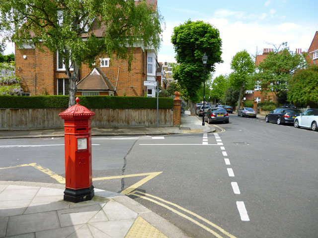 Pillar box at the junction