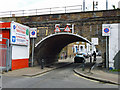 TQ2379 : Railway bridge over Trussley Road by Robin Webster