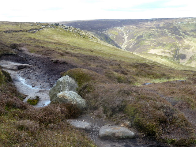 Moorland footpath by Blackden Edge