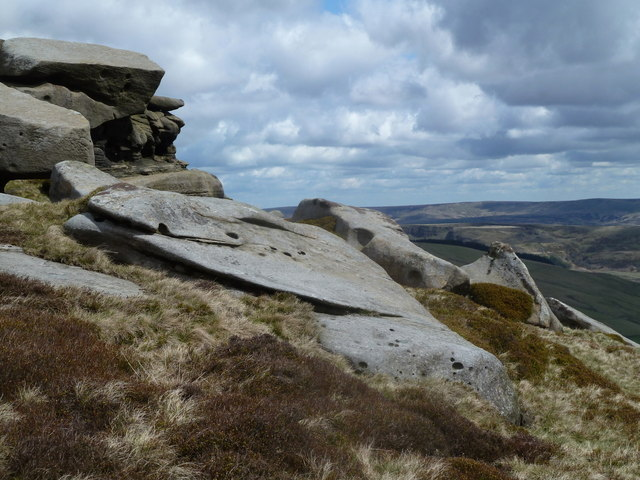 Rock formations by Blackden Moor