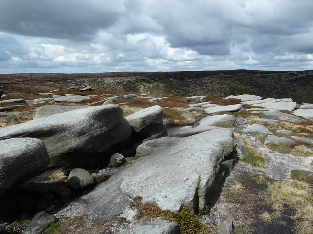 Rocky plateau above Fair Brook