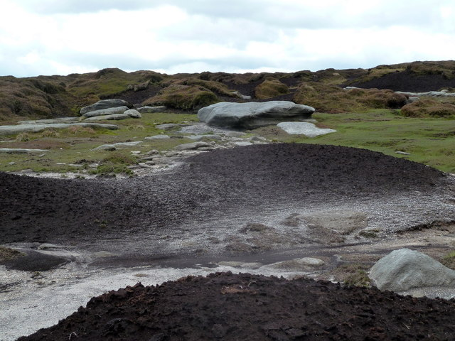 Peaty moorland near Fairbrook Naze