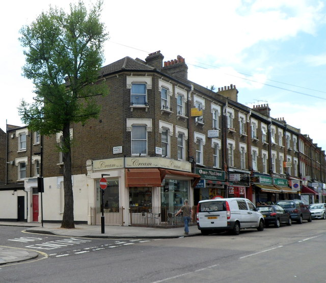 Kilburn Lane shops, London W9
