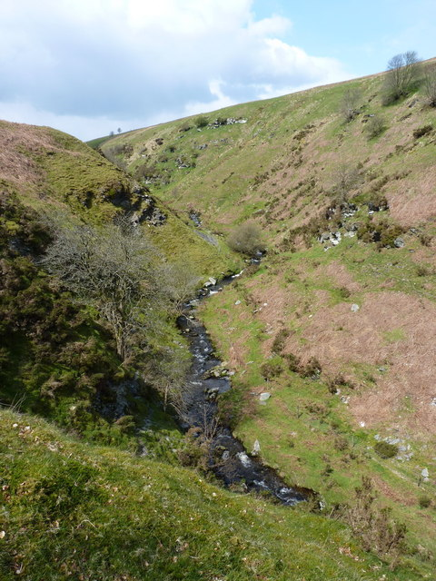 The valley of the Nant Rhidwilym