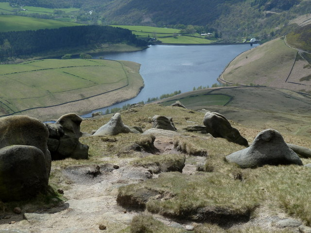 Start of the path down to Kinder Reservoir