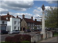 SU7451 : Odiham, Memorial Cross by Colin Smith