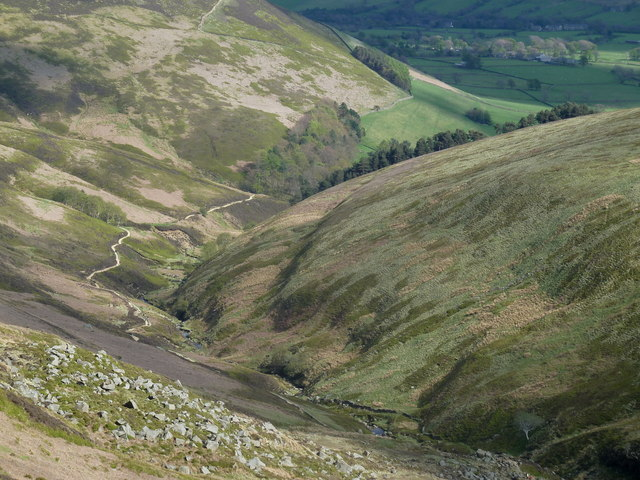 View down Grindsbrook Clough