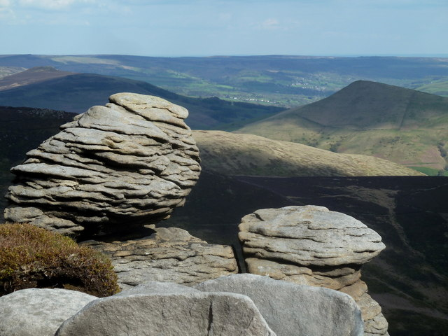 Rock formation and view, Upper Tor