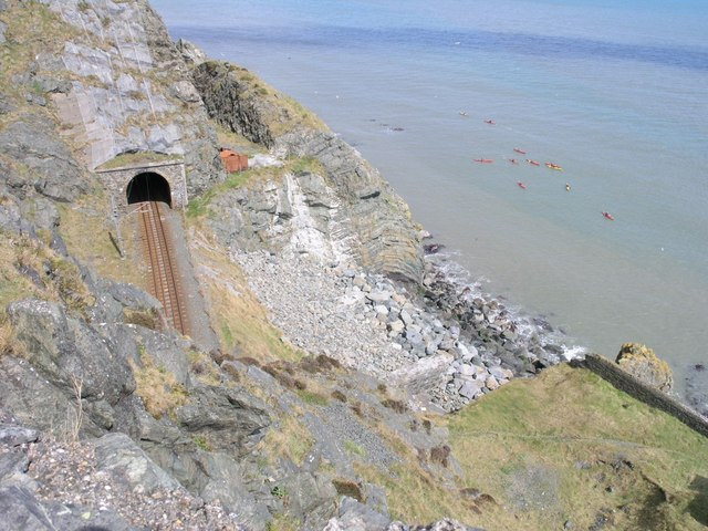 Dublin-Wicklow railway at Bray Head