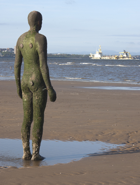 Gormley on the beach, Crosby