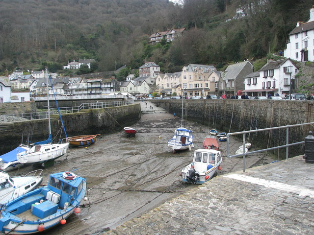 Low tide at Lynmouth