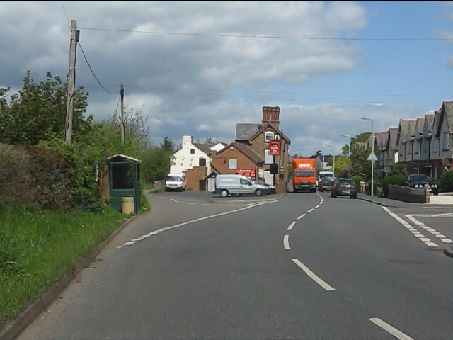 View north to the Castle Inn, Woodhill