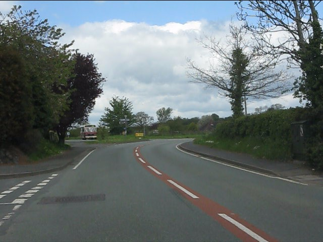 Junctions on the B4555, Eardington