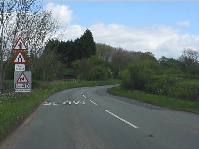 Sign overload, B4555 Knowlesands