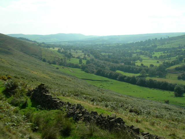 View S/E from the Roman Road towards Hope