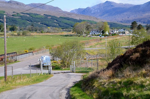 Achintee road junction, Strathcarron