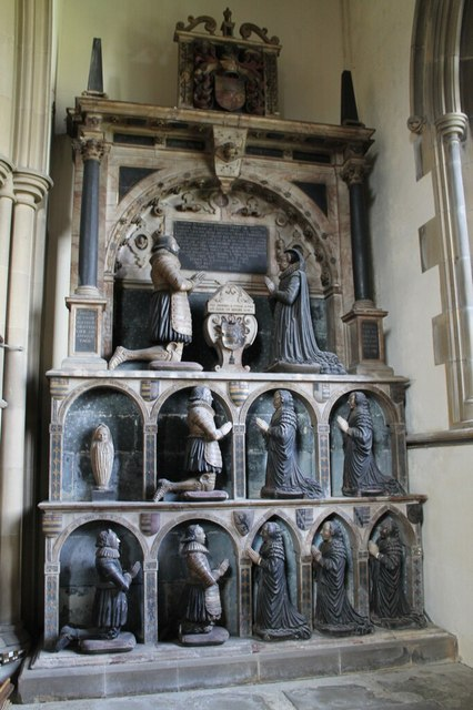 Memorial to Sir George Manners and family, All Saints' church, Bakewell