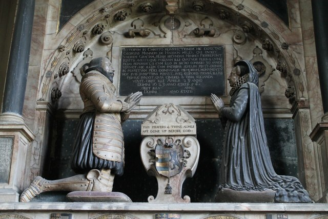 Sir George Manners & wife Grace, All Saints' church, Bakewell