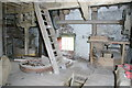SO6485 : Wrickton Mill - the stone floor by Chris Allen