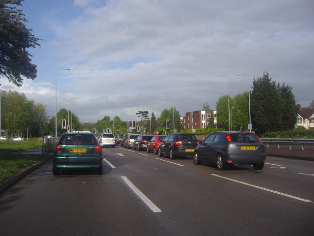 Colchester Road at the junction of Gooshays Drive