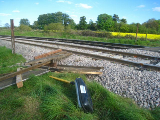 Remains of the old crossing