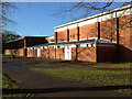 SP2965 : Outside changing rooms, St Nicholas Park Leisure Centre by Robin Stott