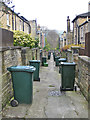 SE1337 : Wheely bins in Saltaire by Pauline Eccles