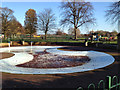 SP2864 : St Nicholas Park paddling pool in winter by Robin Stott