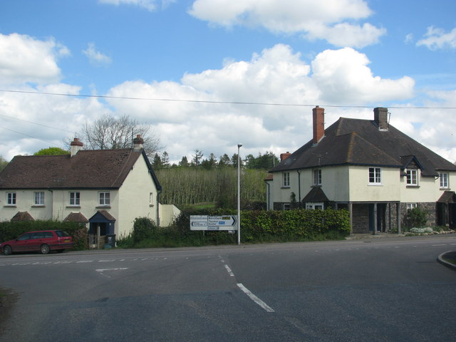Road junction in Stag's Head