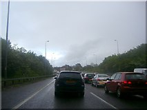 TQ6296 : Gridlock on the A12, Mountnessing by David Howard
