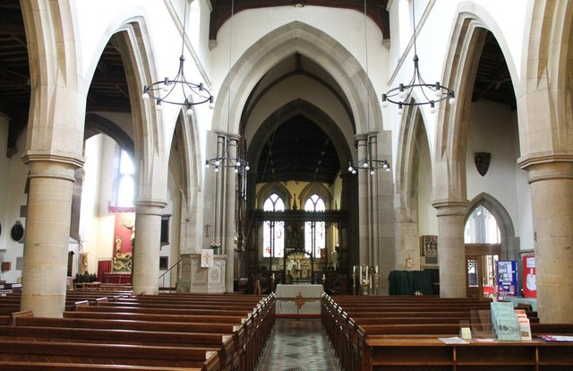 Interior, All Saints' church, Bakewell