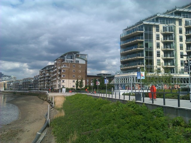 New apartment blocks at Waterfront on Battersea Reach