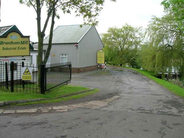Entrance to Brantham Mill Industrial Estate