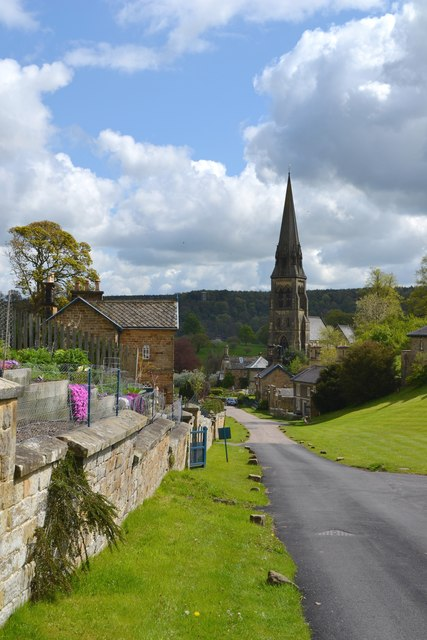 Edensor Village looking to St Peter's Church