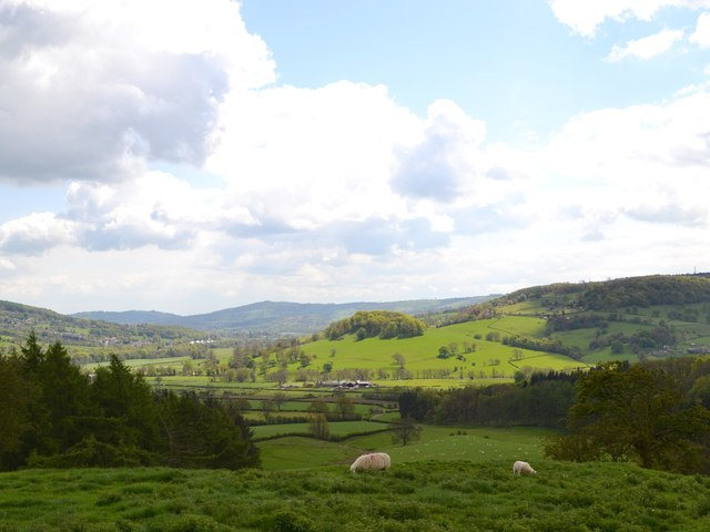 View to the Wye Valley from Rowsley Moor