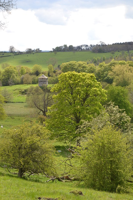 View to the sixteenth century dove cote at Haddon Hall