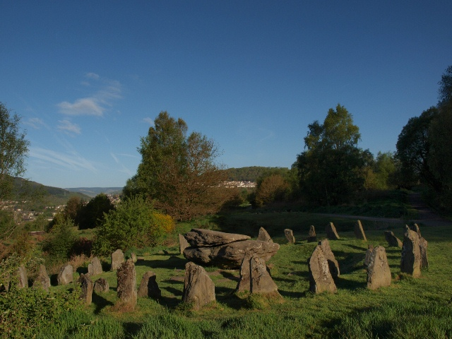 The Rocking Stone and the Victorian Druid Circle above Pontypridd