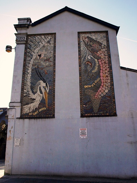 Mosaic Murals in Church Street, Pontypridd