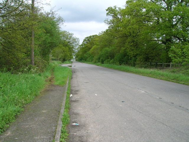 Roman Road towards Copdock