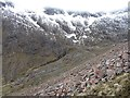 NN2449 : Screes, Coire an Easain by Richard Webb