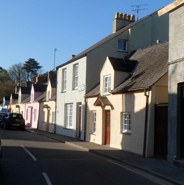 Church Street and Wexham Street houses near Steeple Lane, Beaumaris