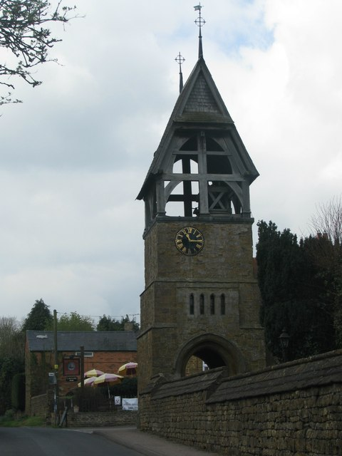 Detached church bell-tower, Great Bourton