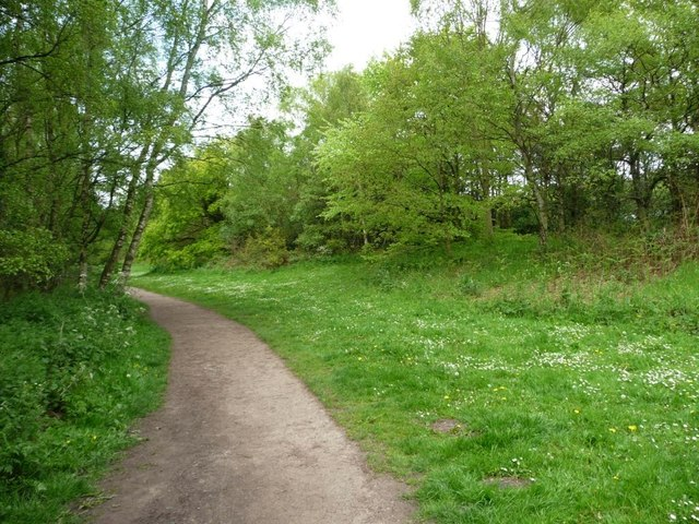Footpath at southern corner of Shakerley Mere