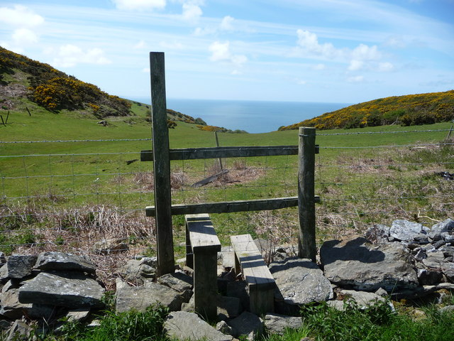 Stile near the sea