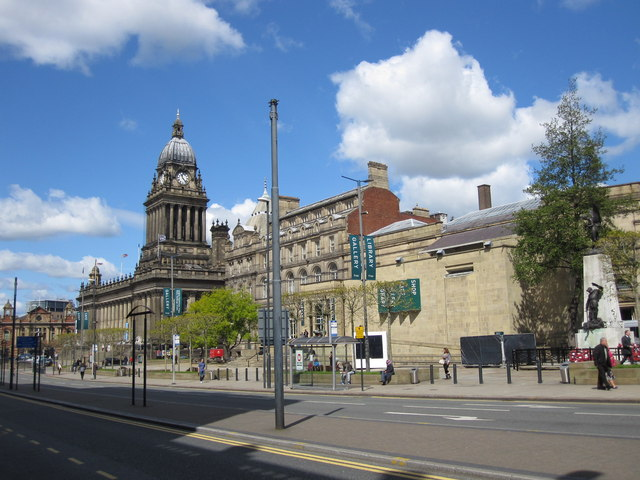 Leeds Central Library and Cenotaph
